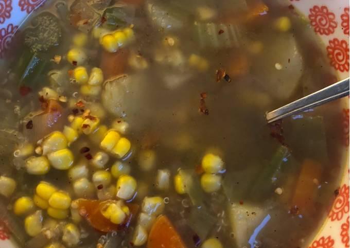 Sopa Andina: veggie + quinoa soup - vegan