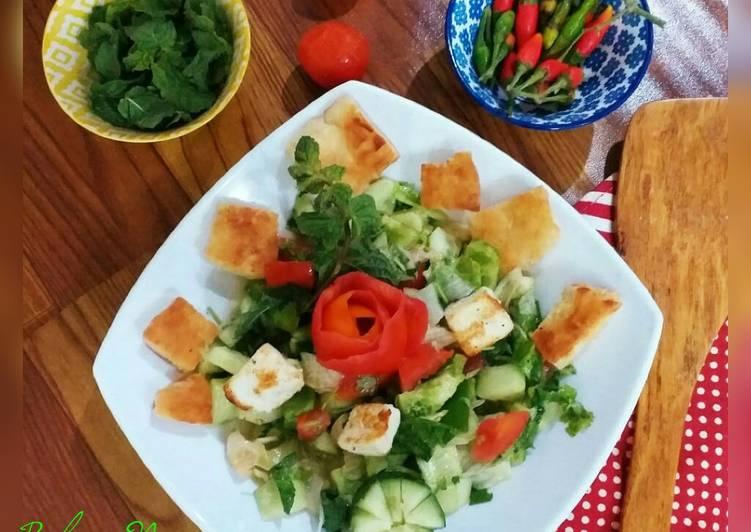 Arabic Fatoosh Salad.