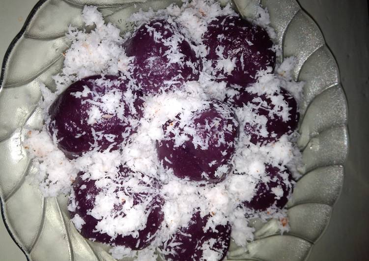 Kue ceplos ubi ungu mirip #klepon - cookandrecipe.com