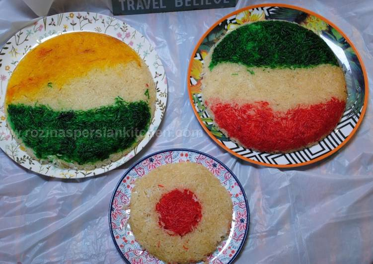 How to Prepare Perfect Coloured tahdig