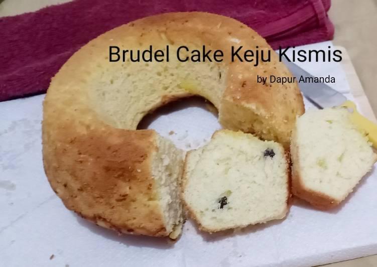 12. Brudel Cake Keju Kismis (no mixer)