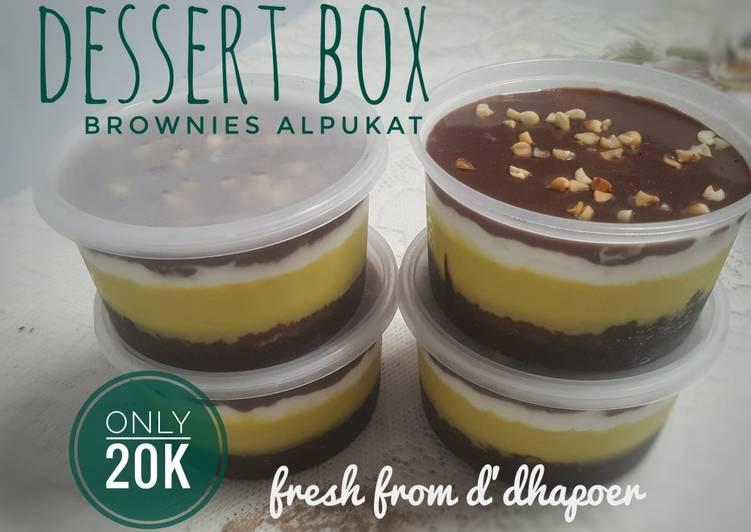 Dessert Box Brownies Alpukat