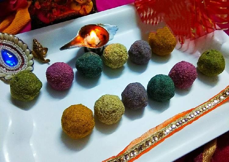 Colourful Rava Ladoos