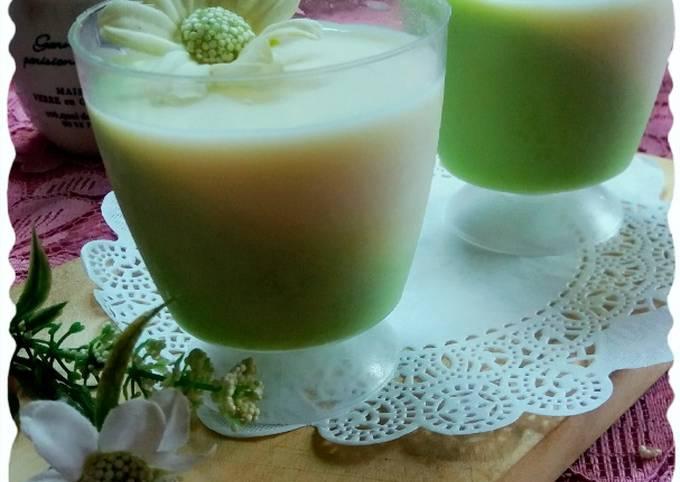Pudding melon susu