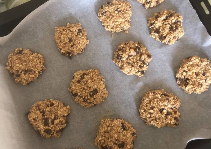 Cookies healthy banane avoine et chocolat