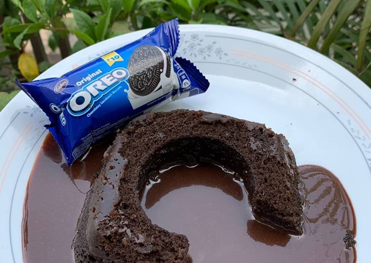 Oreo cake lava cake