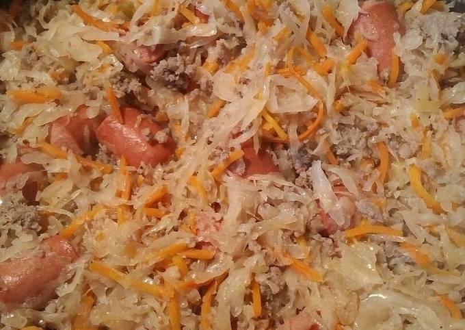 Sauerkraut Sausage and Hotdogs