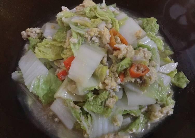 Sawi putih saus tiram