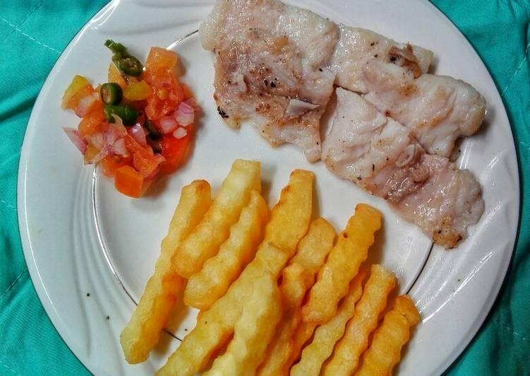 Ikan Dori panggang