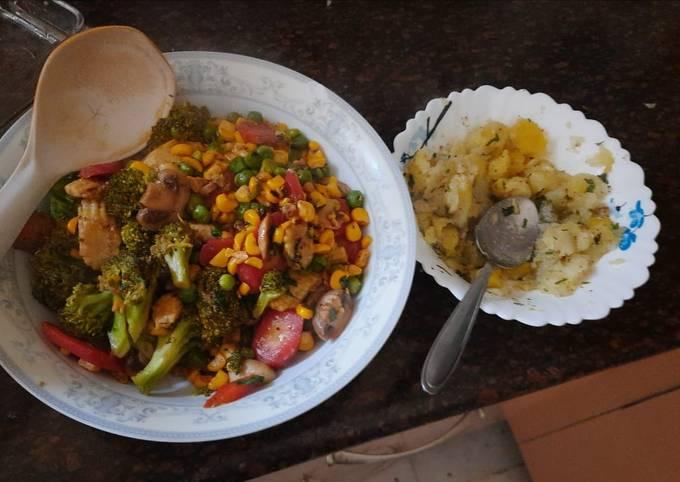 Healthy Corn & Peas salad