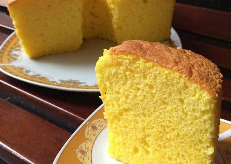 Nutrisari orange chiffon cake