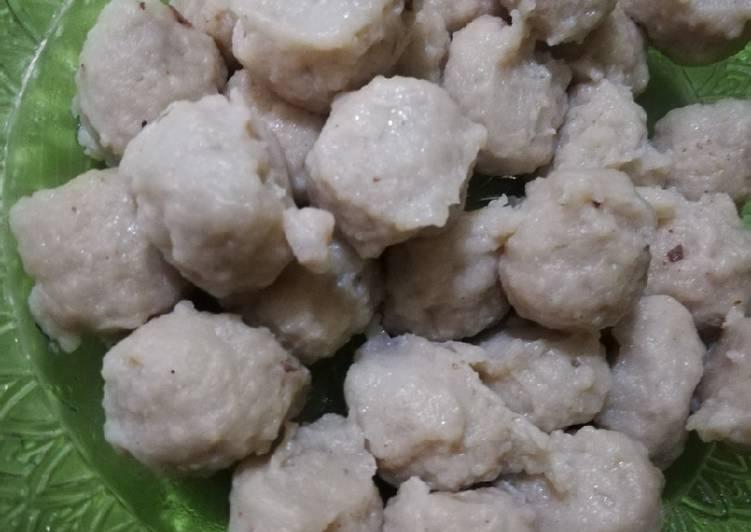 Pentol ayam kenyal tanpa baking powder