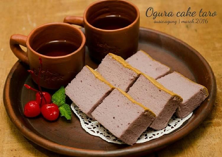 Ogura cake taro (bubuk ubi ungu)