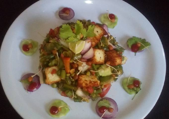 Paneer veg mix sprouts