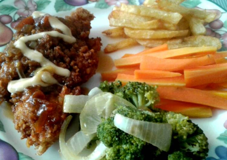 Spicy Chicken Crispy Steak