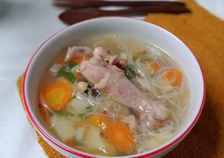 Resep Praktis Sop Ayam Kampung Terenak