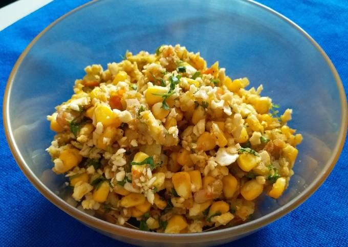 Cashew Corn Potato Chaat