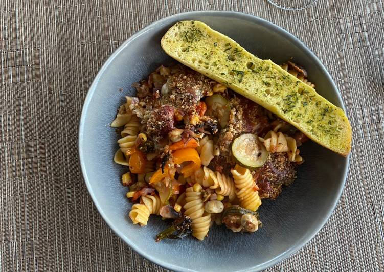 Lightly Spiced Veggie Pasta Bake