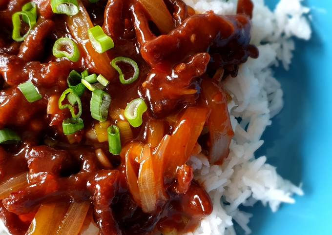 Chinese-style crispy beef