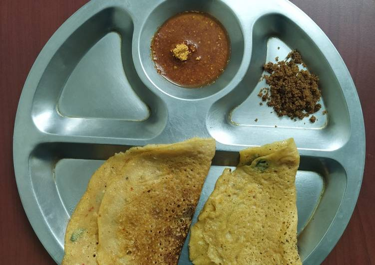Simple Way to Make Super Quick Homemade Dal Dosa(Adai)