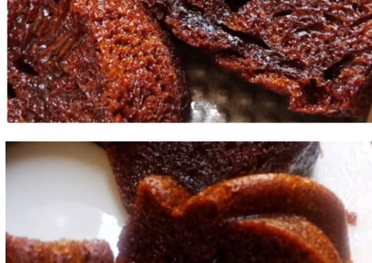 cara menyajikan Cake Caramel Sarang Semut (Panggang & Kukus) - Sajian Dapur Bunda