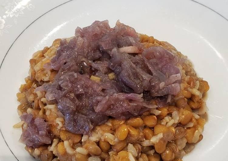 Recipe: Perfect Instant pot Vegan, oil free mujadra
