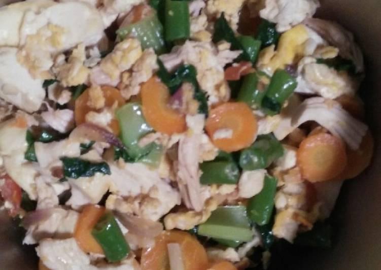 Tumis Ayam Sayur Orak Arik