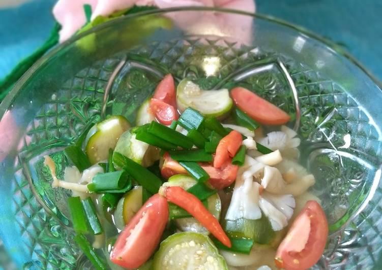 Sayur Bening Jamur
