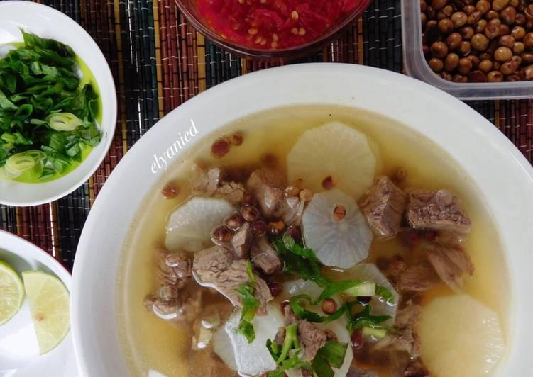 Soto Bandung (daging+lobak) lunch gm diet