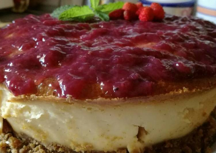 receta tarta de queso con arandanos light