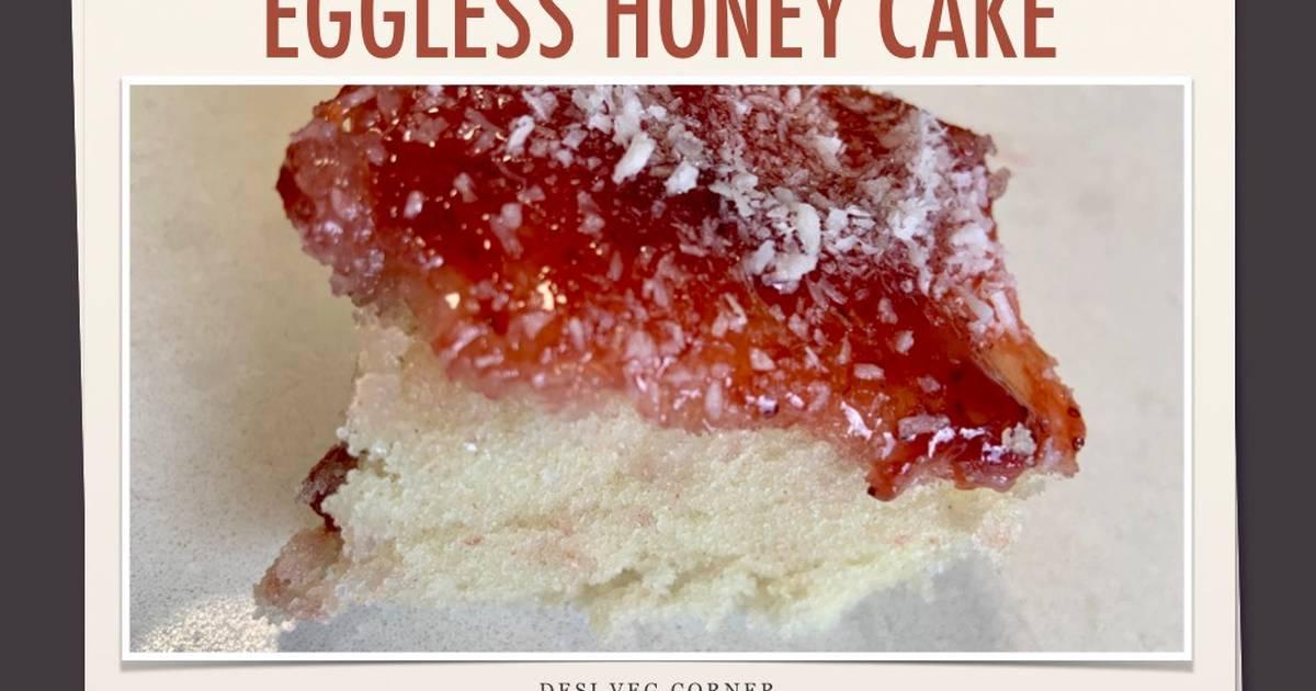 Honey Cake How To Make Eggless Honey Cake Recipe Bakery Style Cake Recipe By Desi Veg Corner Cookpad