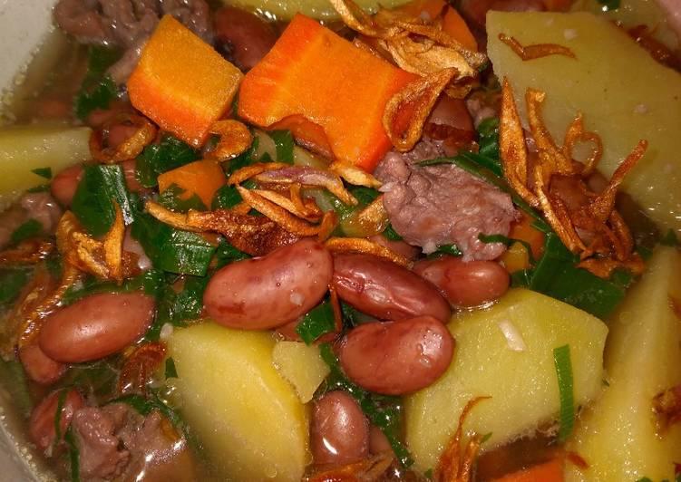 Sup Kacang Merah Kaldu Sapi