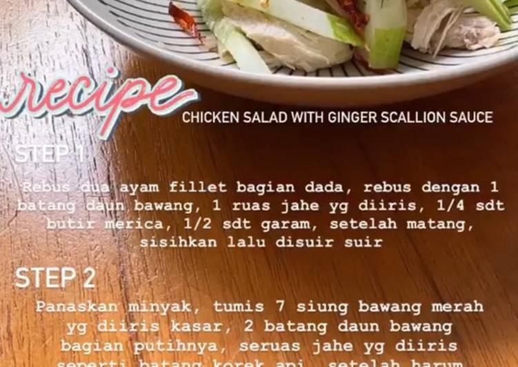 Chicken Salad With Ginger Scallion Sauce