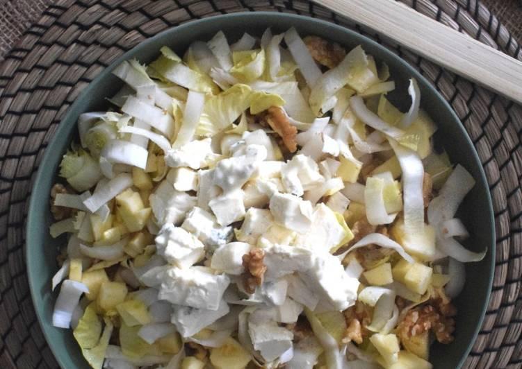 Comment faire Faire Savoureux Salade d'endives pommes noix et mughetto