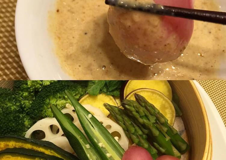 Recipe of Quick Sesame Dip made with Japanese Mayo