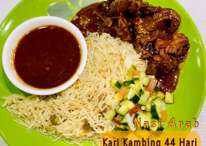 Nasi Arab Kari Kambing 44 Hari /Kari Kambing ala 40 Hari (Tanpa santan)