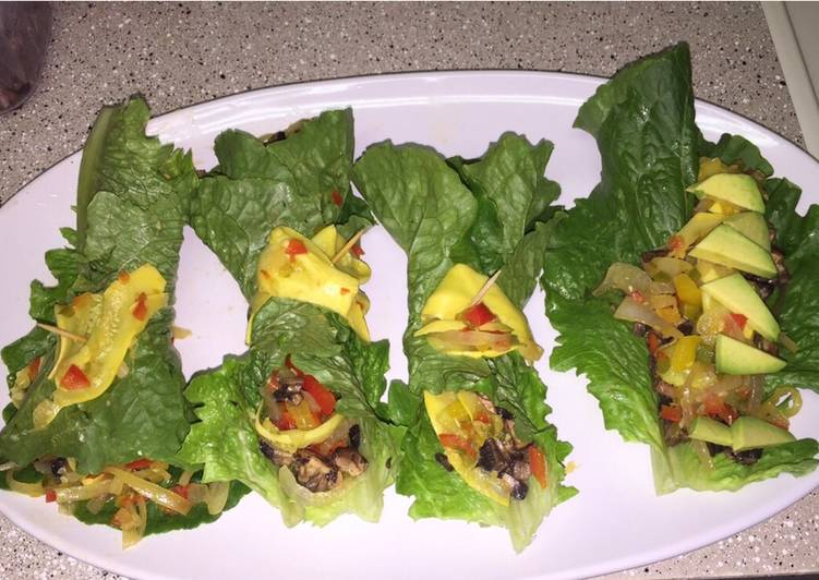 Easiest Way to Cook Yummy Alkaline Vegan Lettuce Wraps