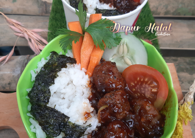 Rice Bowl : Meatball Italian Herbs