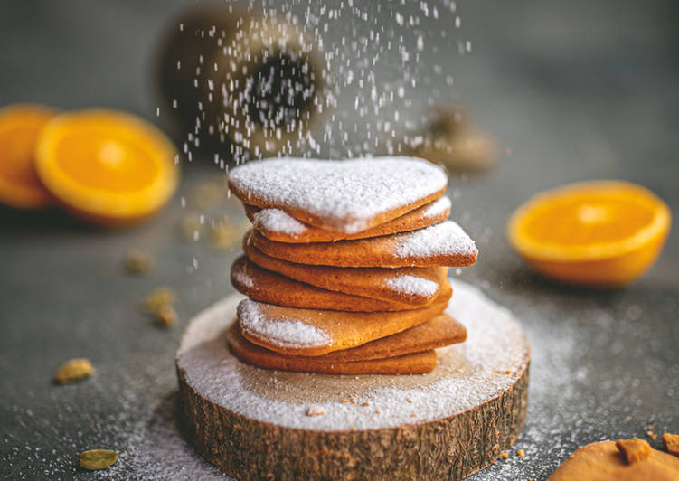 Recipe of Perfect Orange and cardamom biscuits