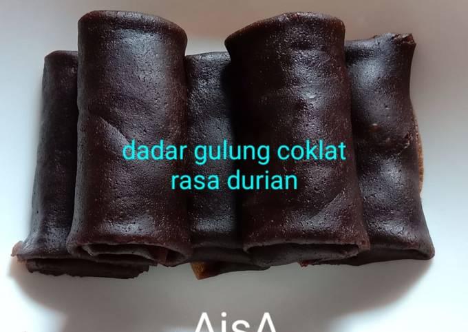 Resep #37 Dadar Gulung Coklat Rasa Durian, Enak