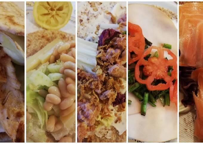 5 idee per piadine integrali per un pranzo light! 🌯
