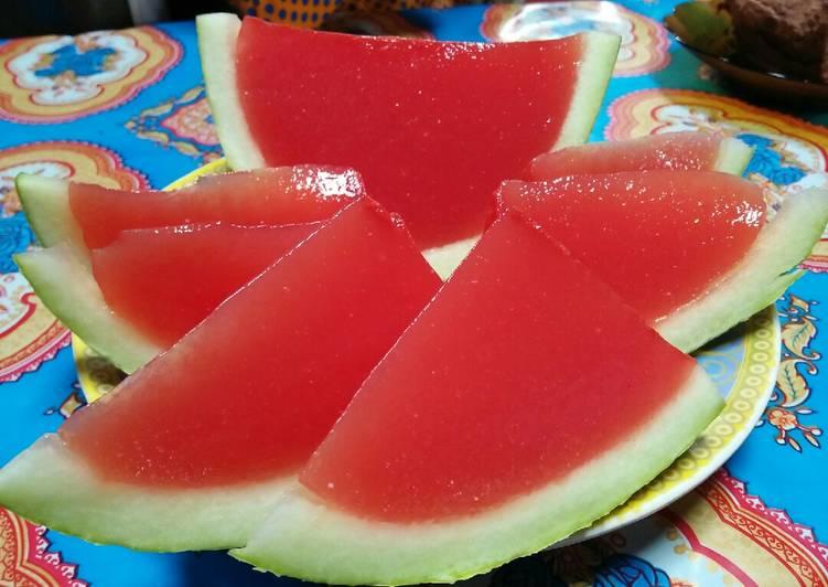Pudding Jelly Semangka Ketofy