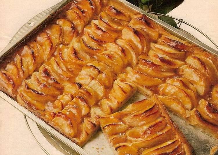 пирог с яблоками на слоеном тесте рецепт