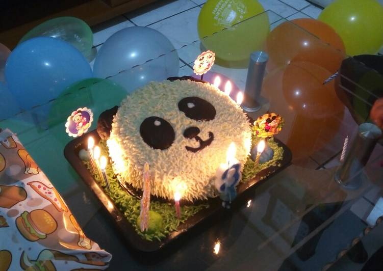 Resep Kue Ultah Panda Oleh Aethra Cookpad
