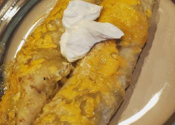 Easiest Way to Recipe Appetizing Shredded chicken enchiladas red or green