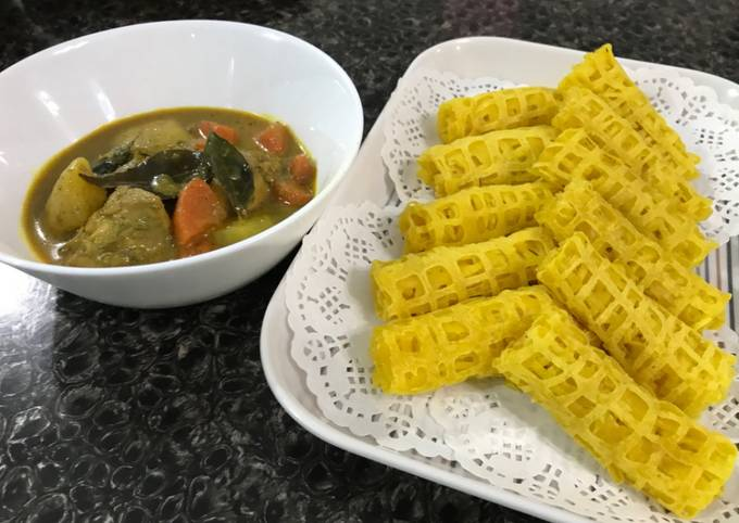 Roti Jala & Kari Ayam