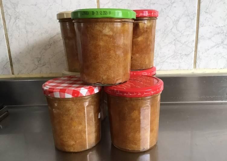 Étapes pour Faire Fait maison Confiture pommes cannelle érable