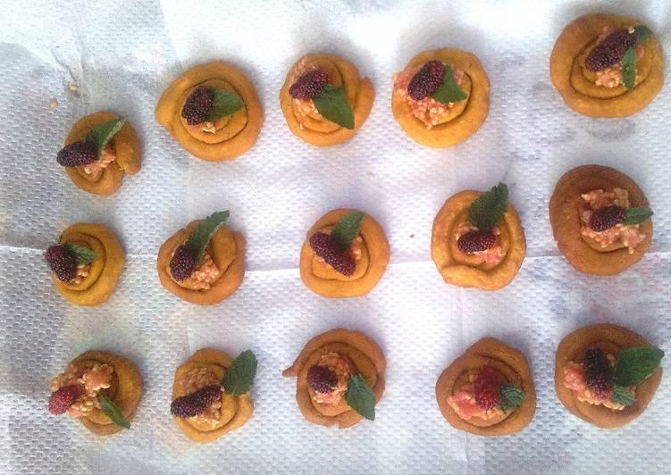 Ganthia fruit canapé# team contest #sugar n spice#appetizer #indian food