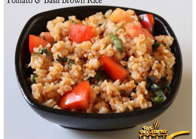Tomato and basil brown rice