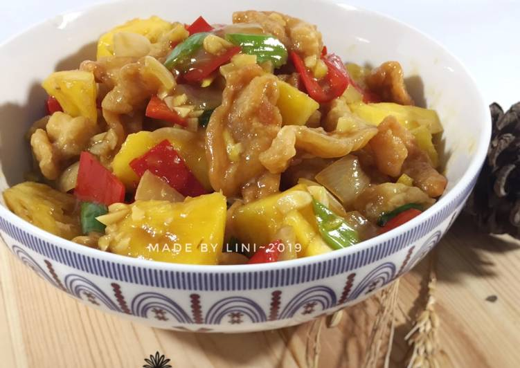 Ayam fillet Nanas - ayam saos nanas - resep olahan ayam - resep mudah pemula